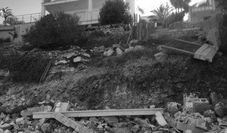 Los movimientos de tierra amenazan la carretera Dénia-Xàbia