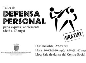 El Poble Nou de Benitatxell organiza un taller de defensa personal para jóvenes