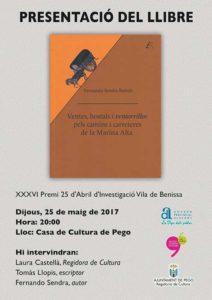 Presentació del llibre 'Ventes, hostals i ventorrillos de la Marina Alta' de Fernando Sendra Bañuls -Pego- @ Casa de Cultura de Pego