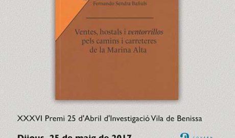 Presentació del llibre 'Ventes, hostals i ventorrillos de la Marina Alta' de Fernando Sendra Bañuls -Pego-