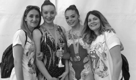Gal.la Gallo i Lourdes Miralles, del Club Gimnàstica Rítmica Dénia, guanyen de nou l'autonòmic