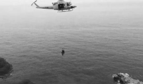 Muere una senderista tras caer por un acantilado de 150 metros en la cala Llebeig de Benitatxell