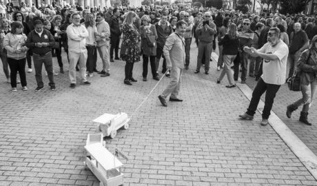 [GALERÍA] La protesta por el tren Dénia-Gandia, en imágenes