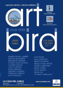 """Exposición coral de 19 artistas internacionales: """"Art Bird-Ave Arte"""" -Xàbia- @ Casa del Cable, Xàbia"""