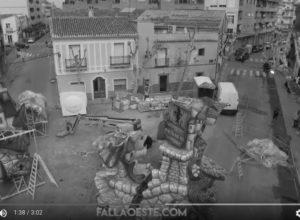 [VÍDEO] La falla Oeste, ganadora este año en Dénia, vista desde el cielo