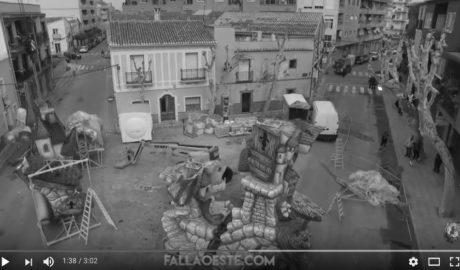 [VÍDEO] La falla Oest, guanyadora d'enguany a Dénia, vista des del cel