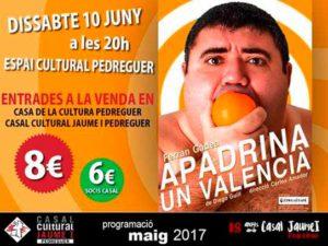 Teatre: 'Apadrina un valencià' per Ferran Gadea -Pedreguer- @ Espai Cultural de Pedreguer