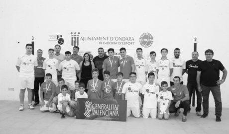 Ondara y Beniarbeig-El Verger consiguen dos medallas de oro en el autonómico de raspall