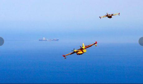 'Pluja en les ales', les fotografies de l'incendi de Xàbia-Benitatxell premiades pel Ministeri de Defensa