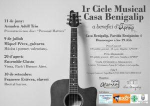Concert del grup Ensemble Giusto. Cicle Musical Casa Benigalip -Pego- @ Casa Benigalip, Pego