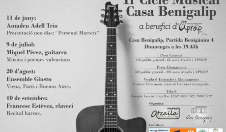 Música clásica en las noches estivales: comienza en Pego el Ciclo Musical Casa Benigalip