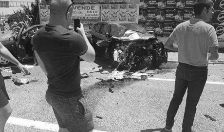 Otro brutal accidente pone de relieve la alarmante falta de seguridad en la N-332 entre Dénia y Oliva y deja seis heridos