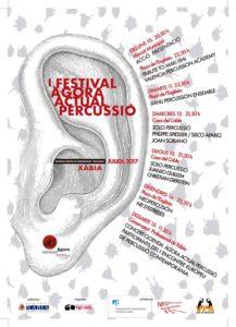Festival Àgora Actual Percussió Xàbia: Presentación -Xàbia- @ Xàbia