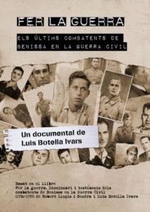 Presentació del documental 'Fer la guerra. Els últims combatents de Benissa en la Guerra Civil' Dir.: Luís Botella Ivars -Orbeta- @ Orbeta