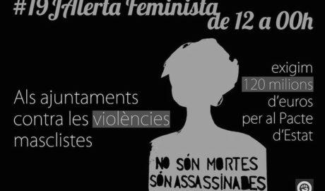 Toda la Marina Alta, en «alerta feminista» el 19-J