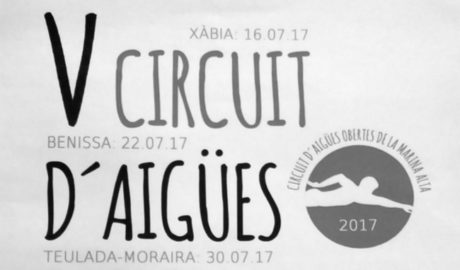 El V Circuit d'Aigües Obertes de la Marina Alta contará con cinco pruebas a lo largo del verano
