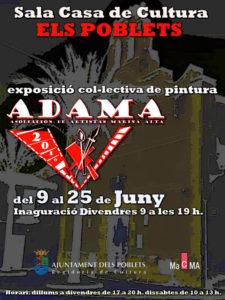 Exposición colectiva de los artistas de ADAMA -Els Poblets- @ Sala de la Casa de Cultura, Els Poblets