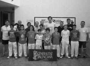 Xavi, de la escuela de pilota de Beniarbeig-El Verger, campeón autonómico de escala i corda