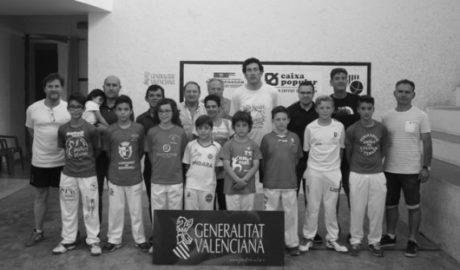 Xavi, de l'escola de pilota de Beniarbeig-El Verger, campió autonómic d'escala i corda