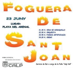 Fogueres de Sant Joan en la Playa del Bol -Calp- @ Playa del Bol Arenal de Calp