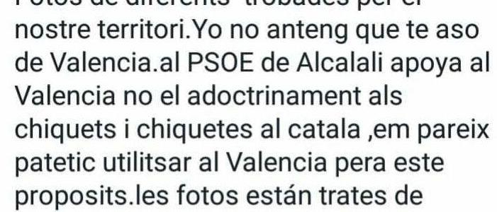 El edil socialista de Alcalalí tilda de «adoctrinamiento catalanista» las Trobades d'Escoles