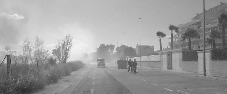 Controlat el primer incendi de l'estiu a Dénia, en l'inici de les Marines
