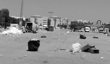 Un lunes cualquiera tras el mercadillo de Torrecremada en Dénia