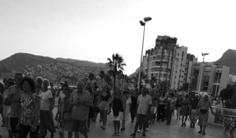 Manifestación contra el urbanismo desmesurado en Calp