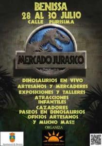 Mertcado Jurásico: dinosaurios, animación, artesanía, talleres, actividades familiares... -Benissa- @ Calle Purissima, Benissa