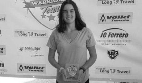 La tennista deniera Andrea Redondo guanya el Torneig TTK Warriors de Castelló