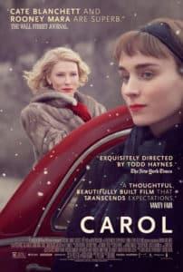 Cine a la Fresca: 'Carol' Dir.: Todd Haynes -Pedreguer- @ Parc del Patronat, Pedreguer