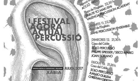 Xàbia acull el festival Àgora Actual Percussió a ritme de tambors i timbals