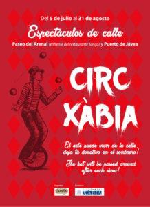 """Circ Xàbia, teatro de calle: Manu Sinkeli con """"Como una cabra"""" -Xàbia- @ paseo David Ferrer, en el Arenal, frente al restaurante Tango"""