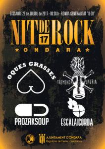 Nit de Rock: concert d'Oques Grasses, Tremenda Jauría, Prozak Soup i DJ Escala i Corda -Ondara- @ Ronda de la Generalitat, Ondara