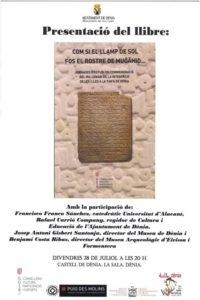 Presentació del llibre 'Com si el llamp de sol fos el rostre de Mugahid' -Dénia- @ La Sala del Castell de Dénia