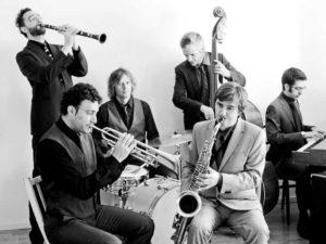 III Festival de Jazz de Dénia: concierto del sexteto Racalmuto @ Jardines de Torrecremada, Dénia