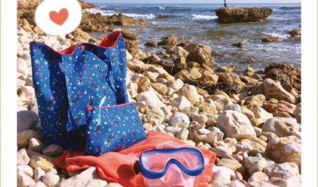 """La Punxeta sortea un divertido conjunto de Tote Bag y neceser con la tela de buceadores """"Dive with me"""""""