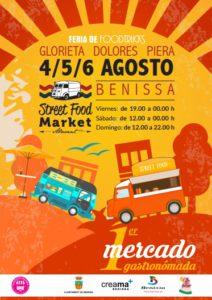 Primer Mercado de Gastronomía, Feria de Foodtrucks + Exposición de Vehículos Históricos -Benissa- @ Glorieta Dolores Piera, Benissa
