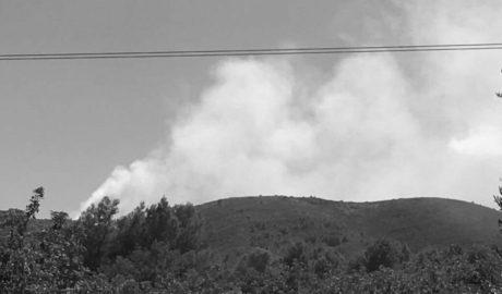 Incendio en la Mallà Verda, entre Teulada, Benissa y Gata