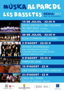 Música i balls tradicionals valencians per la Colla del Cànter -Dénia- @ Parc de Les Bassetes, Dénia