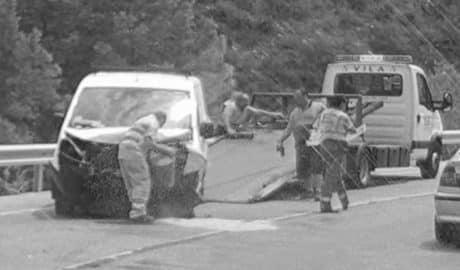 Varios heridos y largas retenciones tras un choque frontal en la N-332 en la Garganta de Gata