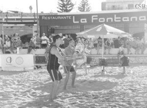 Las parejas de Roberto Soria-José Bas y Patricia Flores-Maite Ortuño vencen en el autonómico de tenis playa de Xàbia