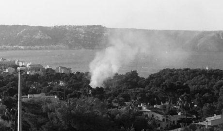 Un incendio en el Portitxol de Xàbia hace saltar todas las alarmas