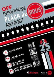 OFF Festival de Terrassa: concert de Jeff Jerolamon Jazz Experience. -Ondara- @ Plaça de Bous, Ondara
