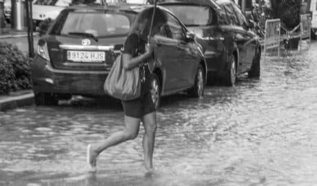 [GALERIA] Les imatges del diluvi en ple estiu a Dénia