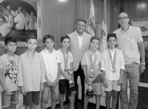El alcalde de Xàbia recibe a Toni Sart, campeón de España de gimnasia artística