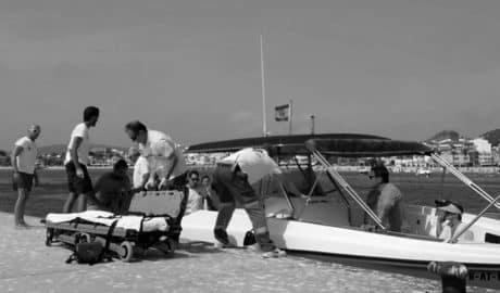 Evacúan a un hombre que quedó semiincosciente en una excursión en barca por el Tangó de Xàbia