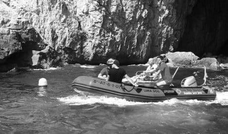 Rescatada una mujer en la Cova dels Òrguens de Xàbia tras lesionarse con las rocas