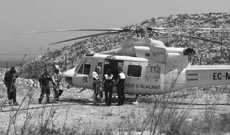 Rescatan a un senderista perdido en la ruta de los acantilados de Benitatxell