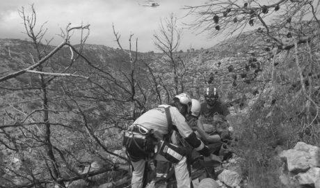 Rescatada una senderista que cayó en un barranco del Tangó de Xàbia al equivocar la ruta